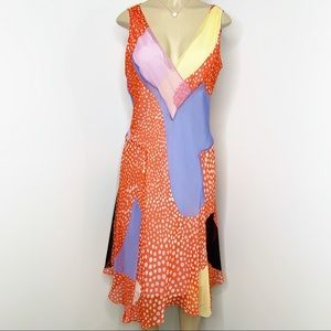 DIANE VON FURSTENBURG Starfish Silk Dress Size 8